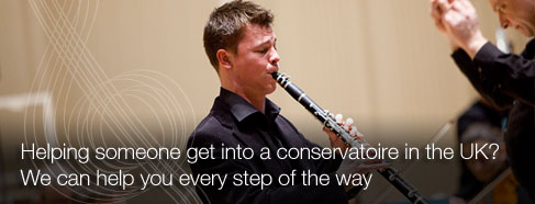 Helping someone into a conservatoire in the UK? We can help you every step of the way