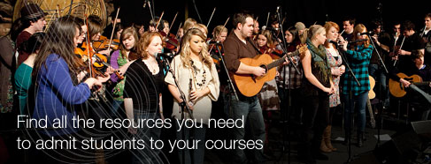 Find all the resources you need to admit students to your courses